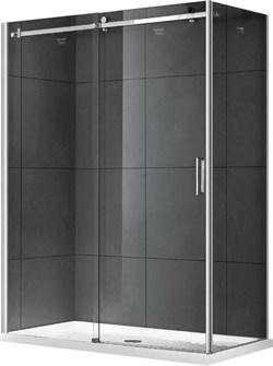 GEMY Modern Gent 150x80 Душевой уголок, стекло  прозрачное 8 мм, профиль хром - фото 13754