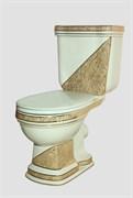 CREAVIT Klasik Декор DIAG./BEJ Комплект напольного унитаза: чаша, бачок, механизм смыва, крышка с микролифтом