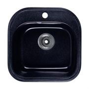 ROSSINKA RS48 Мойка из искусственного мрамора, размер 47,6х47,6 см, цвет черный, поверхность матовая
