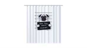 FIXSEN Dogsr Шторка для ванной, ширина 180 см, цвет белый