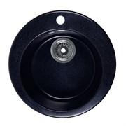 ROSSINKA RS47R Мойка из искусственного мрамора, размер 47х47 см, цвет черный, поверхность матовая