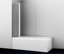 WASSERKRAFT Leine 35P02-110 Fixed Стеклянная шторка на ванну, распашная, двухстворчатая, закругленная, ширина 110 см, стекло прозрачное 6 мм