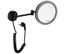 WasserKRAFT K-1004BLACK Зеркало с LED-подсветкой, 3-х кратным увеличением