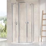 RAVAK CHROME CSKK4 Душевой уголок полукруглый с распашными дверями, стекло 6 мм
