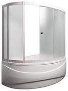 1MARKA Aura Шторка для ванны Aura, 150х150х140, профиль-белый