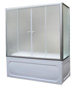 1MARKA Шторка на прямоугольную ванну, профиль-хром, 180x140