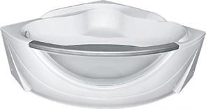 1MARKA Grand Luxe Ванна угловая, с рамой и панелью, белая, 155x155