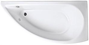 1MARKA Piccolo Ванна асимметричная, с рамой и панелью, белая, 150x75, правая