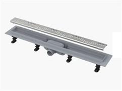 ALCA PLAST Желоб водоотводящий, L 850 мм, пластик, с решеткой из нержавеющей стали , матовый