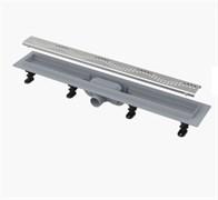 ALCA PLAST Желоб водоотводящий, L 550 мм, пластик, с решеткой из нержавеющей стали, матовый
