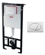 ALCA PLAST Комплект для подвесного унитаза:, исталляция, кнопка M070 белая , крепления