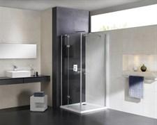 CEZARES CRYSTAL-S-A-1-L Душевой уголок квадратный двери распашные, стекло 8 мм, левый вариант