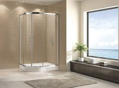 CEZARES ECO-O-RH-2 Душевой уголок асимметричный двери раздвижные, стекло 6 мм, устанавливается на левую или правую стороны