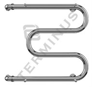"""М-форма 1"""" (32 мм) Терминус с держателями полотенец, полотенцесушитель из нержавеющей стали, водяной"""
