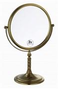BOHEME Medici Зеркало настольное, двустороннее, 3-кратное увеличение, бронза