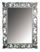BOHEME Зеркало прямоугольное, серебро, 97х70, массив дерева