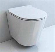 ESBANO EBRO Безободковый подвесной унитаз, сиденье ультратонкое, быстросьемное с микролифтом, 480x365x360