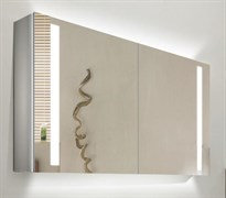 ESBANO Led Зеркальный шкаф, ШхВхГ: 90х70х15, светящаяся полочка, зеркало-линза