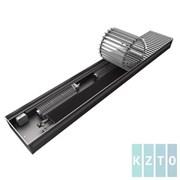 Конвектор с вентиляторами водяной внутрипольный KZTO Бриз В с решеткой L-2100 мм