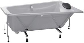 JACOB DELAFON Odeon Up Ванна (160 x 90 см) асcимметричная (правосторонняя) в комплекте с рамой, черной подушкой и хромированными ручками.