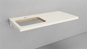 Столешница для решения над стиральной машиной VELVEX Klaufs 120*60 вырез под раковину справа/слева, Invisible Line, толшина 39 мм