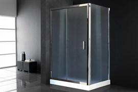 ROYAL BATH HP 120x90 Душевой уголок прямоугольный с поддоном, стекло 6 мм прозрачное, профиль алюминий  хром, дверь раздвижная