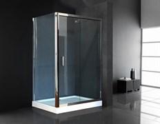 ROYAL BATH HP 120x90 Душевой уголок прямоугольный с поддоном, стекло 6 мм рифленое, профиль алюминий  хром, дверь раздвижная