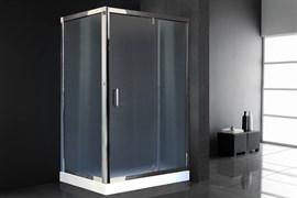 ROYAL BATH HV 140x90 Душевой уголок прямоугольный, стекло 6 мм рифленое, профиль алюминий  хром, дверь распашная