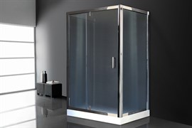 ROYAL BATH HV 120x90 Душевой уголок прямоугольный пристенный П-образный, стекло 6 мм рифленое, профиль алюминий  хром, дверь распашная