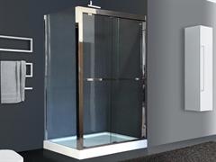 ROYAL BATH RB-L-2011 140x90 Душевое ограждение, стекло 8 мм прозрачное, профиль нержавеющая сталь зеркальный глянец, дверь раздвижная