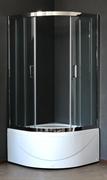 ROYAL BATH RB-L-3001 90x90 Душевое ограждение, стекло 6 мм прозрачное, профиль нержавеющая сталь зеркальный глянец, дверь раздвижная