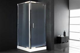 ROYAL BATH HV 80x80 Душевой уголок квадратный, стекло 6 мм рифленое, профиль алюминий  хром, дверь распашная