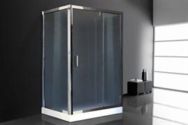 ROYAL BATH HV 120x80 Душевой уголок прямоугольный пристенный П-образный, стекло 6 мм рифленое, профиль алюминий  хром, дверь распашная