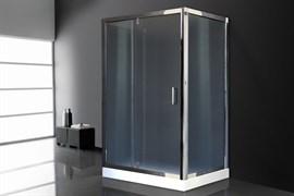 ROYAL BATH HV 140x80 Душевой уголок прямоугольный пристенный П-образный, стекло 6 мм рифленое, профиль алюминий  хром, дверь распашная