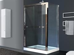 ROYAL BATH RB-L-2011 120x80 Душевое ограждение, стекло 8 мм прозрачное, профиль нержавеющая сталь зеркальный глянец, дверь раздвижная