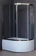 ROYAL BATH RB-L-3001 120x80 Душевое ограждение, стекло 6 мм прозрачное, профиль нержавеющая сталь зеркальный глянец, дверь раздвижная