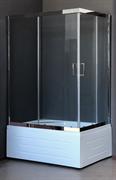 ROYAL BATH RB-L-3002 120x80 Душевое ограждение, стекло 6 мм прозрачное, профиль нержавеющая сталь зеркальный глянец, дверь раздвижная