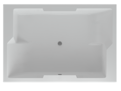 AQUATEK Дорадо Акриловая ванна на каркасе, слив-перелив в комплекте, без панели.