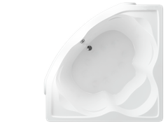 AQUATEK Сириус Акриловая ванна на каркасе, слив-перелив в комплекте, без панели.