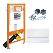 174-91100900-00 Jomo Tech Набор: система инсталляции, крепление, клавиша смыва EXCLUSIVE 2.0 белая