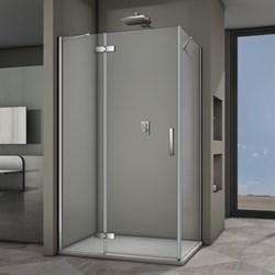 VECONI RV-064 Душевой уголок прямоугольный с распашными дверями, размер 100х80 см - фото 10273
