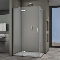VECONI RV-064 Душевой уголок прямоугольный с распашными дверями, размер 100х90 см - фото 10274