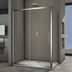 VECONI RV-35 Душевой уголок прямоугольный с раздвижными дверями, размер 160х90 см - фото 10286