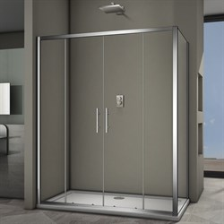 VECONI RV-34 Душевой уголок прямоугольный с раздвижными дверями, размер 150х80 см - фото 10317