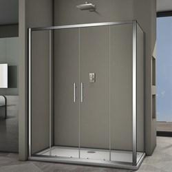 VECONI RV-34 Душевой уголок прямоугольный с раздвижными дверями, размер 140х100 см - фото 10319