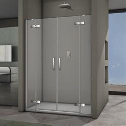 VECONI Душевая дверь распашная VN65, ширина 140 см - фото 10323