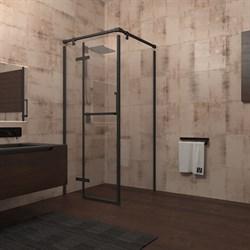 VECONI RV-20 Душевой уголок квадратный с распашными дверями, размер 100х100 см - фото 10330
