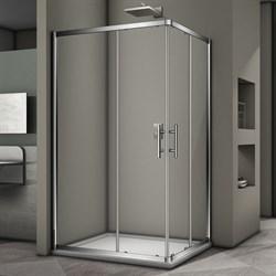 VECONI RV-30 Душевой уголок прямоугольный с раздвижными дверями, размер 120х90 см - фото 10378