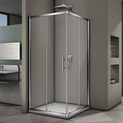 VECONI RV-29 Душевой уголок квадратный с раздвижными дверями, размер 100х100 см - фото 10381