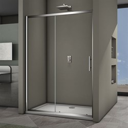 VECONI Душевая дверь раздвижная VN63, ширина 130 см - фото 10390